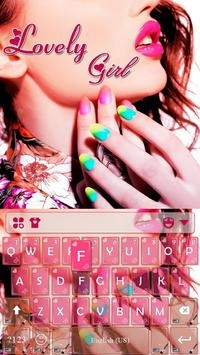 Lovely Girl Keyboard Theme poster