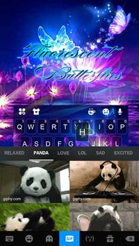 Luminous Purple Butterfly Keyboard Theme screenshot 3