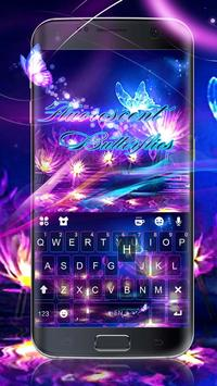 Luminous Purple Butterfly Keyboard Theme poster