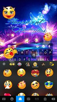 Luminous Purple Butterfly Keyboard Theme screenshot 2