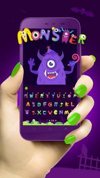 Grimace Monster Keyboard poster