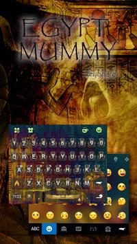 Mummy Mystery Emoji Keyboard Theme apk screenshot