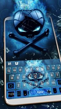 Neon Apple Skull poster