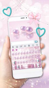 Pink Girly Luxury Pearl poster