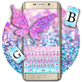 Pink Sparkle Butterfly icon