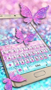 Pink Sparkle Butterfly poster