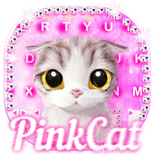 Pink Cat Keyboard Theme icon