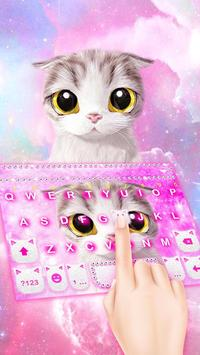 Pink Cat Keyboard Theme poster