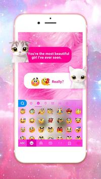 Pink Cat Keyboard Theme screenshot 2