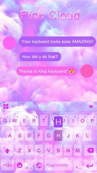 Pink Cloud Kika Keyboard Theme poster