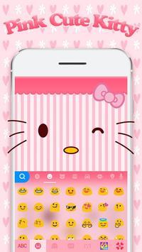 Pinkcutekitty Keyboard Theme poster