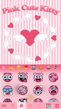 Pinkcutekitty Keyboard Theme apk screenshot