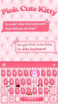 Pink Kitty Keyboard Theme apk screenshot