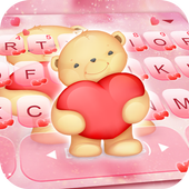 Pink Bear Keyboard Theme icon