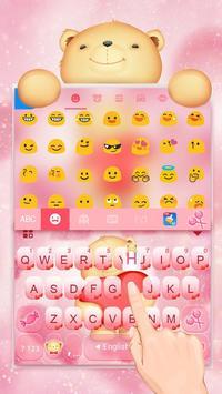 Cuteness Bear Keyboard poster