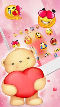 Pink Bear Keyboard Theme screenshot 1