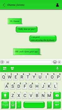 Tema Keyboard SMS Chatting Cartaz