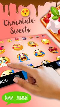 Sweet Chocolate Keyboard Theme apk screenshot