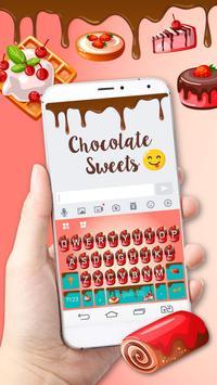 Sweet Chocolate Keyboard Theme poster