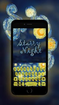 Keyboard - Starry Night Fantasy Emoji Keyboard screenshot 3