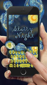 Keyboard - Starry Night Fantasy Emoji Keyboard poster