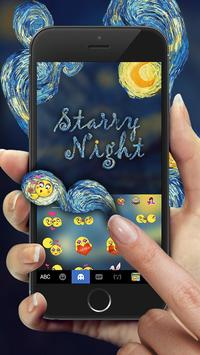 Keyboard - Starry Night Fantasy Emoji Keyboard screenshot 2