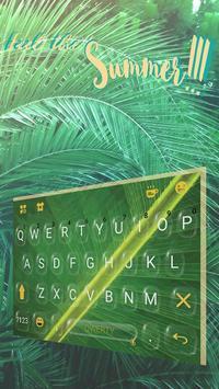 Keyboard - Summer Rain New Theme apk screenshot
