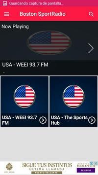 Boston sports radio boston sports app boston radio screenshot 2