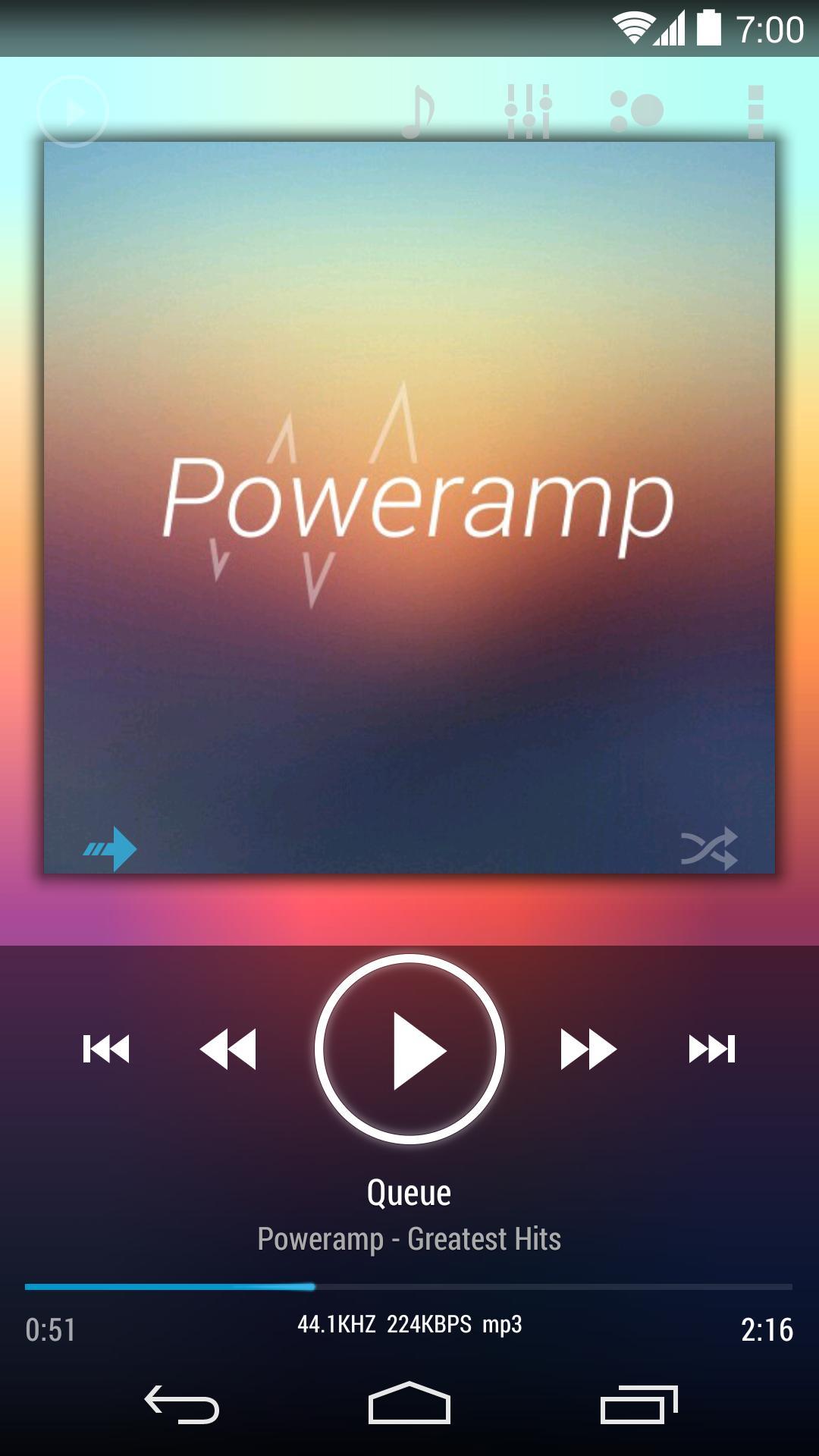 Skin for Poweramp v2 KK/JB/ICS for Android - APK Download