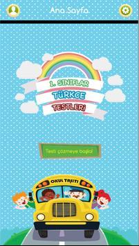 1. Sınıflar Türkçe Testleri poster