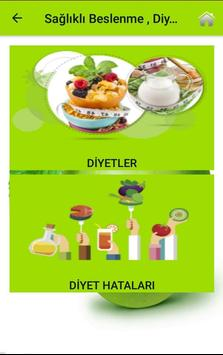 Sağlıklı Beslenme , Diyet ve Yaşam Rehberi screenshot 2