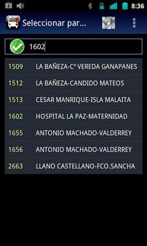 Madrid Bus Widget screenshot 2