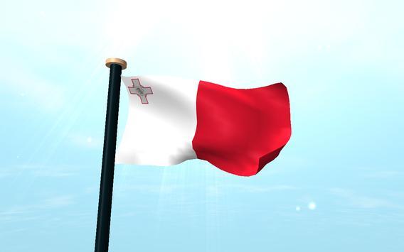 Malta Flag 3D Free Wallpaper apk screenshot