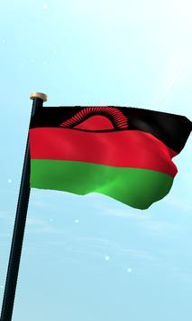 Malawi Flag 3D Free Wallpaper poster