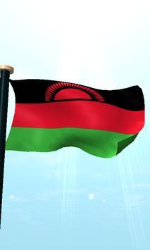 Malawi Flag 3D Free Wallpaper apk screenshot