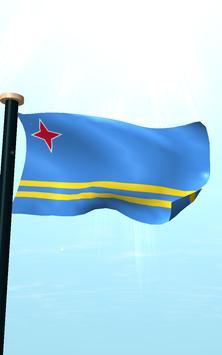 Aruba Flag 3D Free Wallpaper apk screenshot