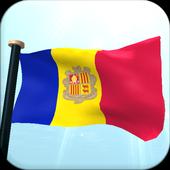 Andorra Flag 3D Free Wallpaper icon