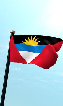 Antigua and Barbuda Flag Free poster