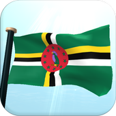 Dominica Flag 3D Free icon