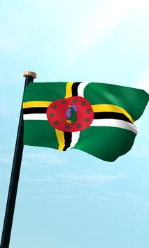 Dominica Flag 3D Free poster