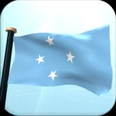 Micronesia Flag 3D Free icon