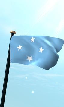 Micronesia Flag 3D Free poster