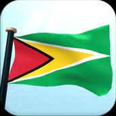 Guyana Flag 3D Free Wallpaper icon