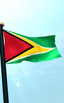 Guyana Flag 3D Free Wallpaper apk screenshot