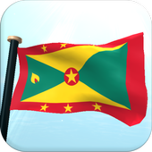 Grenada Flag 3D Free Wallpaper icon