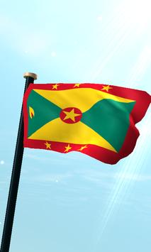 Grenada Flag 3D Free Wallpaper poster