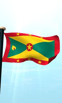 Grenada Flag 3D Free Wallpaper apk screenshot
