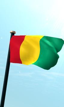Guinea Flag 3D Free Wallpaper poster