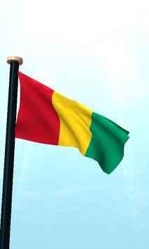 Guinea Flag 3D Free Wallpaper screenshot 1