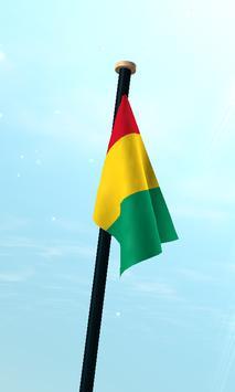 Guinea Flag 3D Free Wallpaper screenshot 2